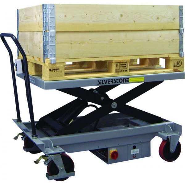Mobiele elektrische heftafel ES100L, 1000 kg, 430 - 1220 mm, enkele schaar